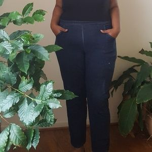 Denim - Plus size cropped blue jeggings